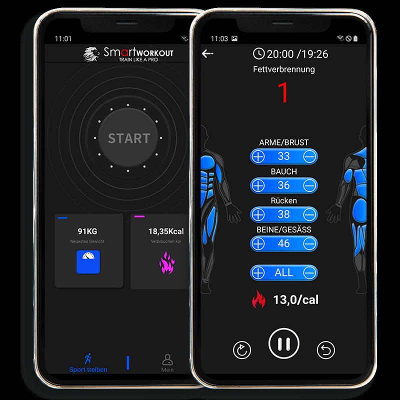 Dein EMS SMART WORKOUT für Zuhause - Mobile App